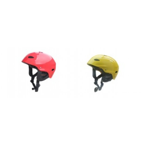 Helmet watersports and kayaking, Red, Yellow, Blue