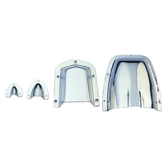 Ventilator Clamshell 130.2x114.3x54mm SS