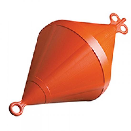 Mooring Buoy Bi-Conical, Plastic, Ext Ø520mm, Orange
