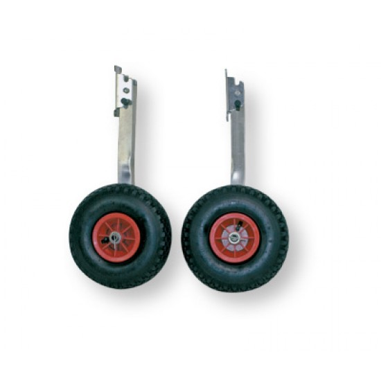 Dinghy Wheels (Pair) Stainless Steel, folding for small boats