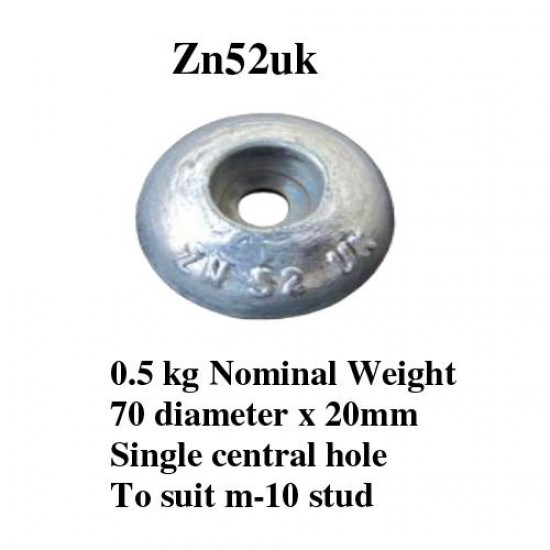 zinc bolt on anode 500gr