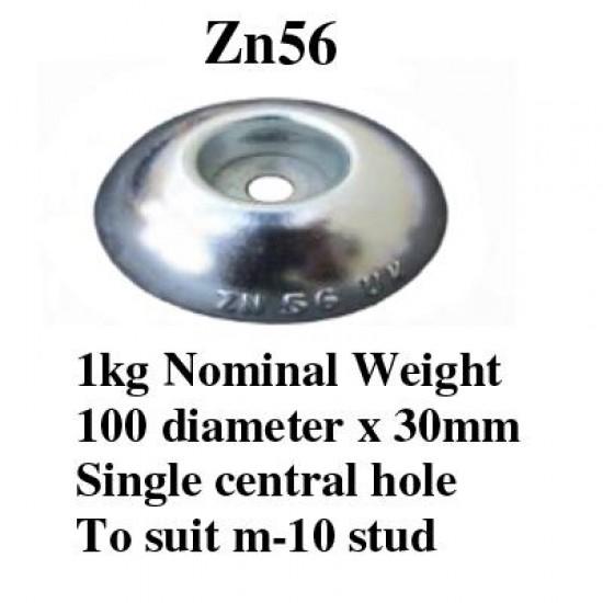 Zinc bolt on anode 1.0kg