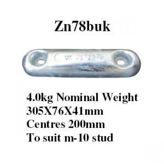 zinc bolt on Anode 4kg