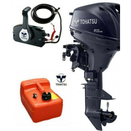 Tohatsu 15HP Pleasure with Remote control electric start and Power Tilt, Standard / Long Shaft