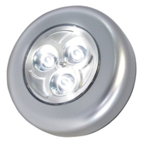 Aqua LED Mini Dome light, wireless, Push on-off LED