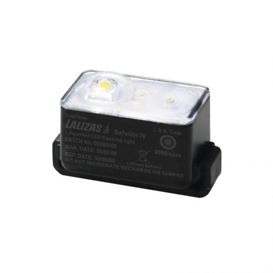 "Lifejacket LED flashing light ""Safelite IV"" ON-OFF water activated, USCG,SOLAS/MED"