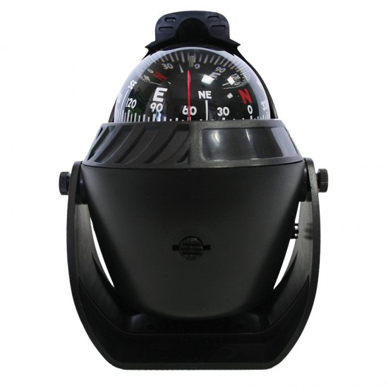 Compass, Black, with LED Light