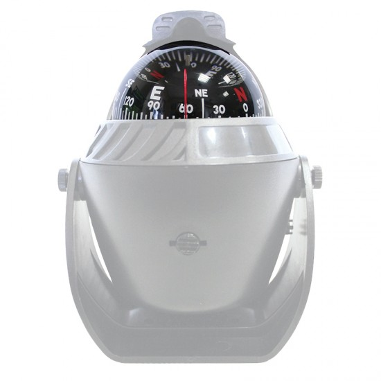 Compass, White, with LED Light