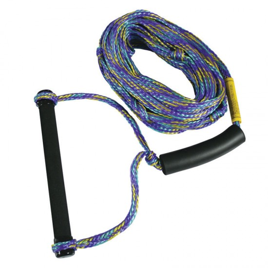 "Ski Rope, ""Water Action"" 8mm (5/16"") dia. Length 23m, with Ski Handle"