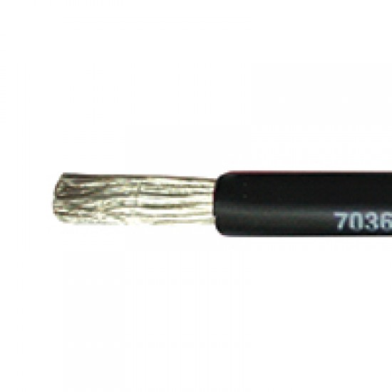 Marine Cable, Single core, Tinned, 1 x 16mm², Black or Red, per meter
