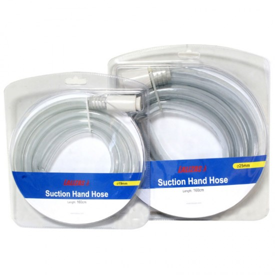 Syphon hose, Manual Suction, Ø25mm x 160cm, White