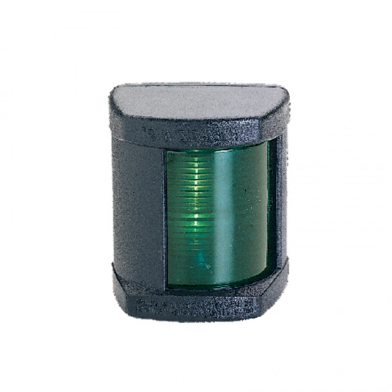 Navigation light starboard green, Classic 12, 112.5° (black housing)