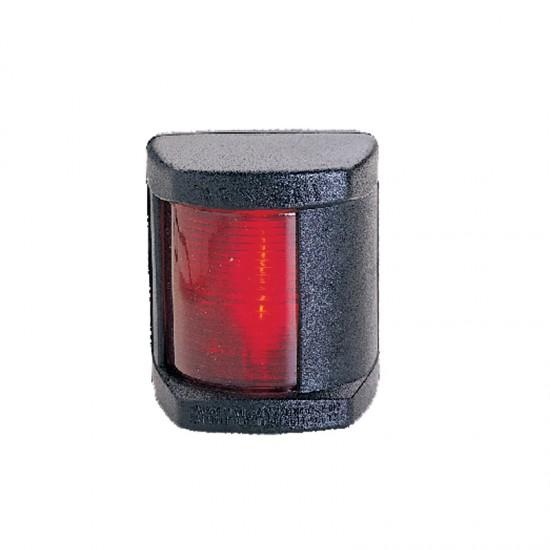 Navigation light port red, Classic 12, 112.5° (black housing)
