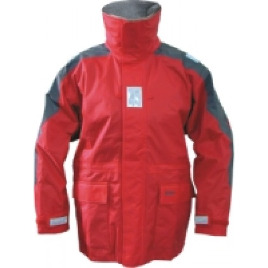 Jacket Inshore Sailing red-grey, Junior, Large