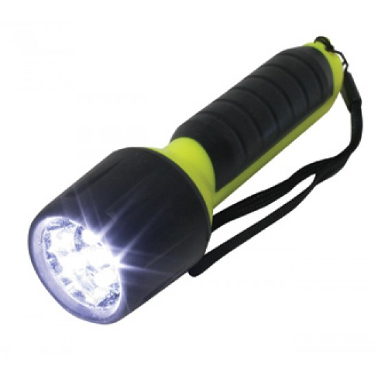 Flashlight - Waterproof, 5LEDs, 4AA