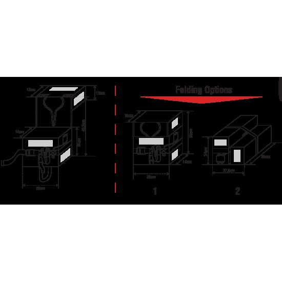 LALIZAS  Compact Folding Lifejacket SOLAS LSA Code 2016, Adult
