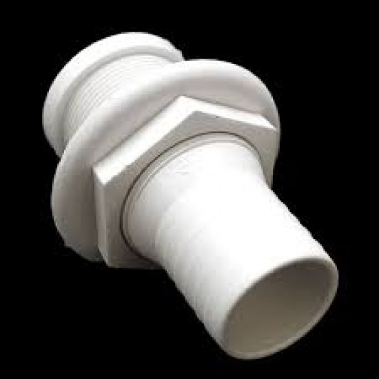 Thru-Hull w/Fl.Flange,1 ½'' f/Hose Ø42mm, L93mm,White