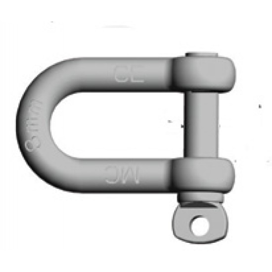 Dee shackle Galvanised Commercial 5mm to 16mm