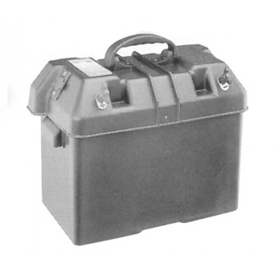 Battery Box Up To 100Ah Battery, Ext.Dim.340x200x230mm, Heavy Duty