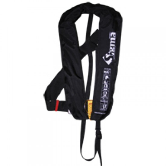 Sigma Auto Lifejacket 170N, ISO 12402-3, w/D-ring & clip crotch strap, black