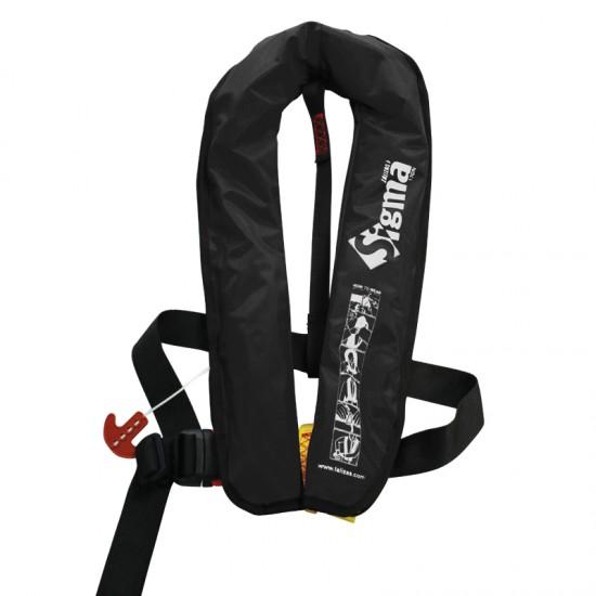 Sigma Auto Lifejacket 170N, ISO 12402-3, Plastic buckle, Black
