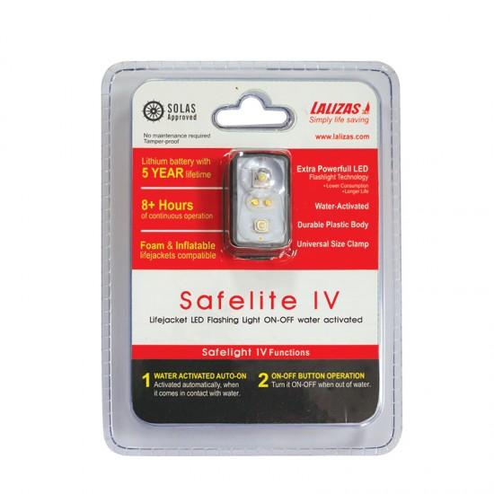 "Lifejacket LED flashing light ""Safelite IV"" ON-OFF water activated, USCG,SOLAS/MED Blister pack"
