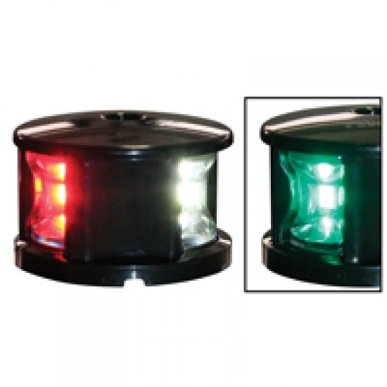 Navigation light Tricolour, LED FOS 12,  (black housing)