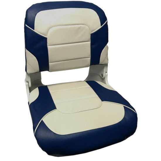 Boat Seat High Back All weather for fisherman, White/Charcoal