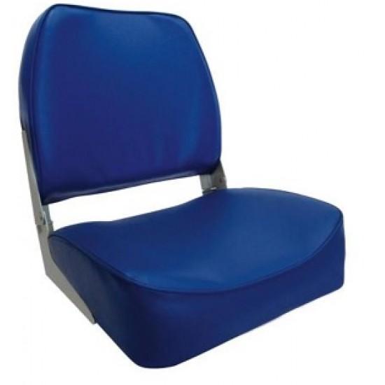 Boat Seat, Economy Low Back folding Blue or Sand