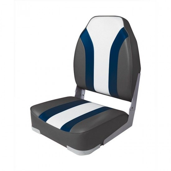 Boat Seat High back Rainbow Seat Charcoal/Red/White