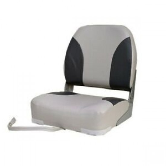 Boat Seat Deluxe Low Back folding White