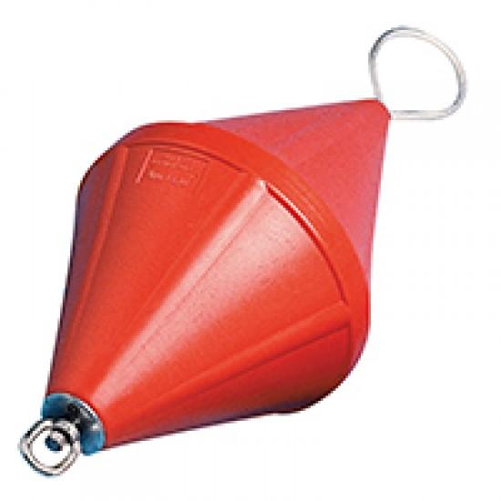 Mooring Buoy Bi-Conical, w/Foam & Steel Rod, Ø320x660mm, Orange