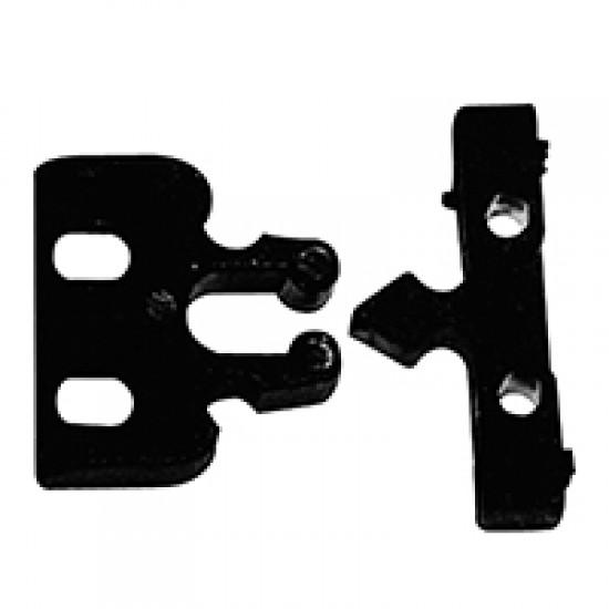 Door Fastener, Plastic, 22x32, Black