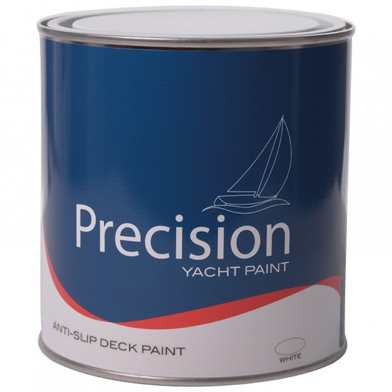 Precision Anti-Slip Deck Paint 1ltr, Light Grey, Grey, Cream, Blue, White