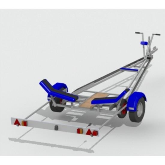 """Snipe Standard Launch Trolley Road Base 8"""" wheels"""