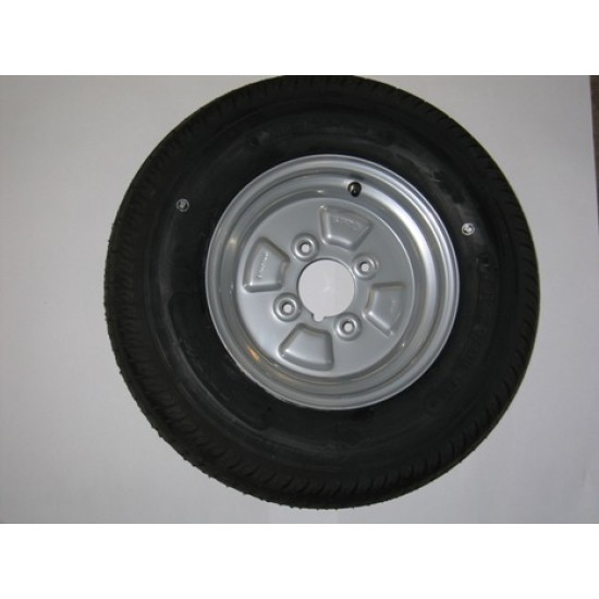 Road Wheel and tyre, 155x13 wheel and tyre 5x112 pcd