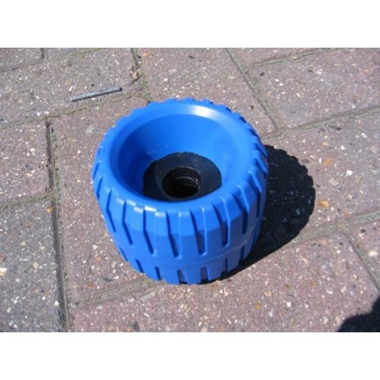 Wobbly Roller, Blue, Snipe, 106mm diameter 79 mm width
