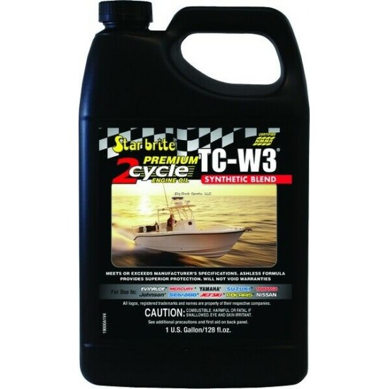 Starbrite Premium 2-Cycle Synthetic Blend Engine Oil TC-W3 3.78L