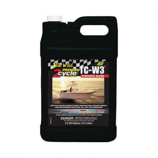 Starbrite Premium 2-Cycle Synthetic Blend Engine Oil TC-W3 9.5L