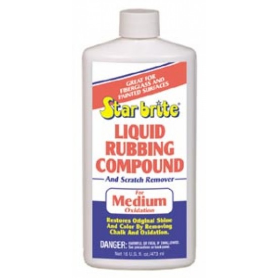 Starbrite Liquid Rubbing Compound Medium Oxidation 16 oz.
