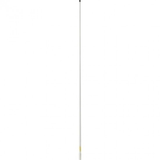 Supergain Capri - 1.4M Powerboat Vhf Antenna Fiberglass- 3Db 6M Cable With Ratchet Mount Base- White