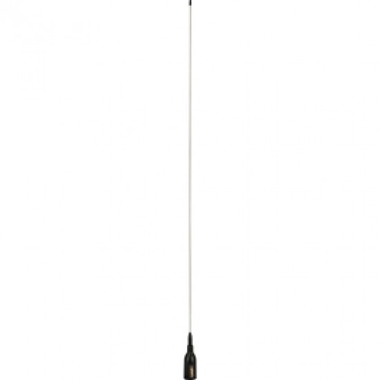 Supergain Crow - 860Mm Universal Vhf Antenna - S/S Whip - 3Db 20M Cable With Bracket