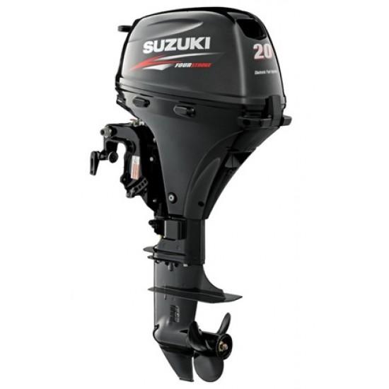 Suzuki DF20AT Outboard Short or Long Shaft Electric Start, Remote Steer, Power Tilt