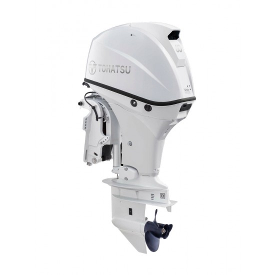 Tohatsu 60HP Long Shaft with Remote control Electric Start and Power Tilt BELUGA WHITE