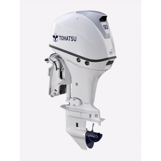Tohatsu 50HP EFi Pleasure with Remote control electric start and Power Tilt. Long Shaft BELUGA WHITE