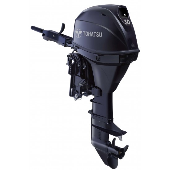 Tohatsu 30HP electric start, Remote steer, Power Trim & Tilt, Short or Long Shaft