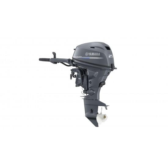 Yamaha 25HP F25GMHL, Long Shaft, Tiller Control, Pull Start, Manual Tilt