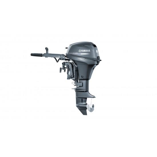 Yamaha 8HP F8FMHL, Long Shaft, Tiller Control, Pull Start, Manual Tilt