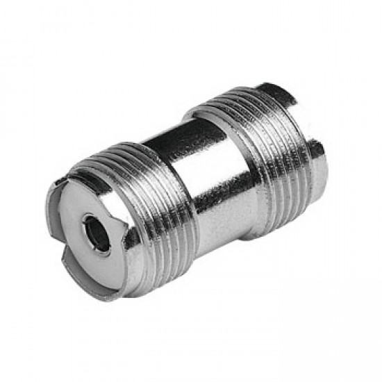 Supergain PL258 Double Female Connector - Nickel Plated