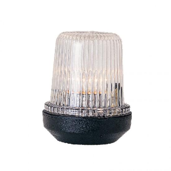 Navigation Light All round white, LED 12,  12-24V  (black housing)